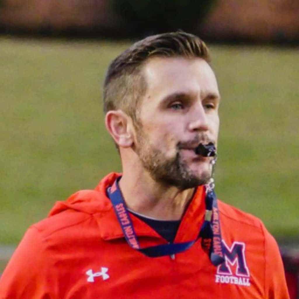 Milton High School Head Football Coach Adam Clack, 2018 7A State Champions